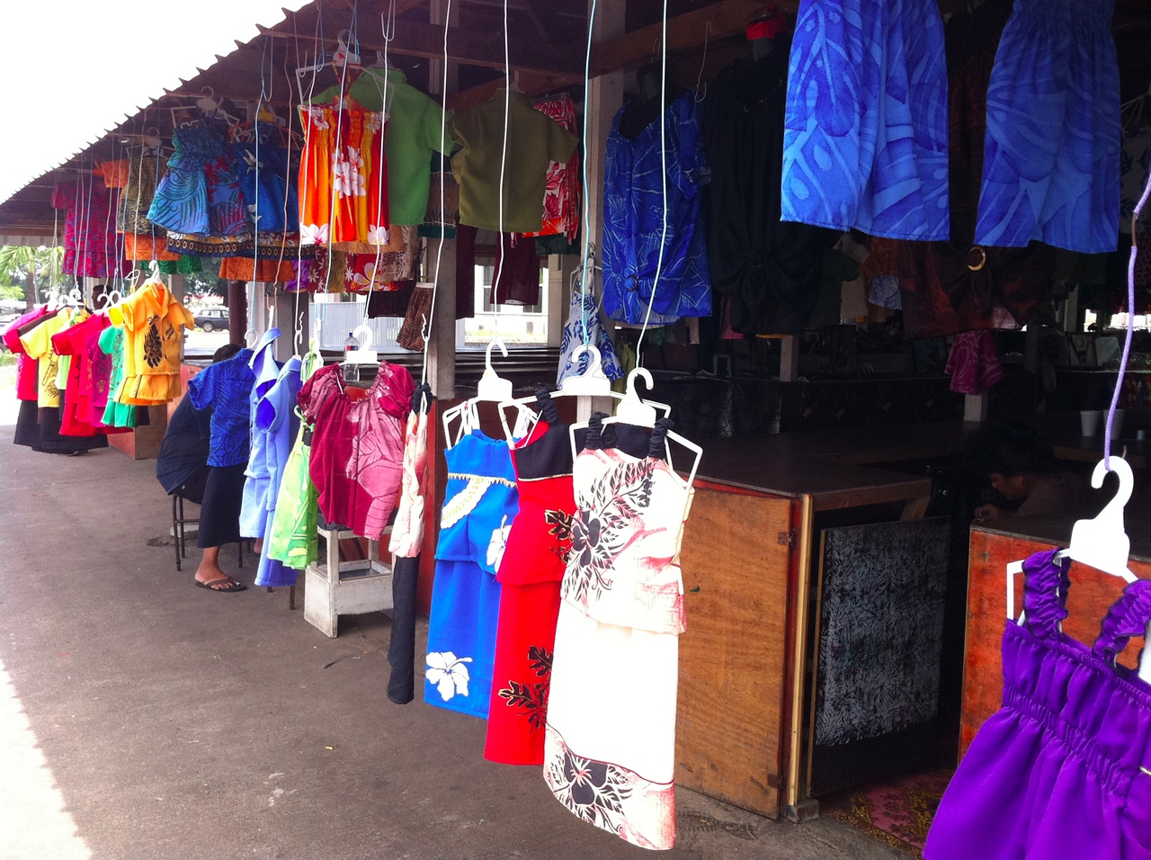 Clothes in a market, Apia