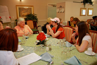 Students volunteer for a service project at Carillon Assisted Living in Shelby, NC.