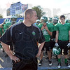 Coach: North Central coach Travis Nolting prepares to take his team to the turf of Memorial Stadium Thursday evening.