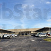 Postal center: Exterior of the loading area of the Terre Haute postal processing center.