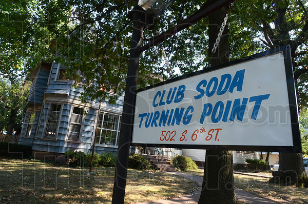 Tribune-Star/Jim Avelis<br /> Happy Birthday: Club Soda's Turning Point house has seen about 100 residents in its first year and currrently houses 17 men.