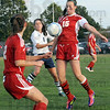Bump: South's #15, Cassidy Wood catches the ball during game action against North Thursday night.