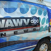 Tribune-Star/Jim Avelis<br /> New wave: The WAWV graphics now acompany the WTWO logo on the side of their remote truck.