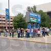 Tribune-Star/Jim Avelis<br /> Fans: Fans line up outside Hulman Center for Thursday night's Miranda Lambert concert.