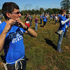 Tribune-Star/Jim Avelis<br /> Picking out a tune: Mateo Garcia plays piccolo in the Indiana State University marching band. The band will share the field with Butler's band at halftime tomorrow.