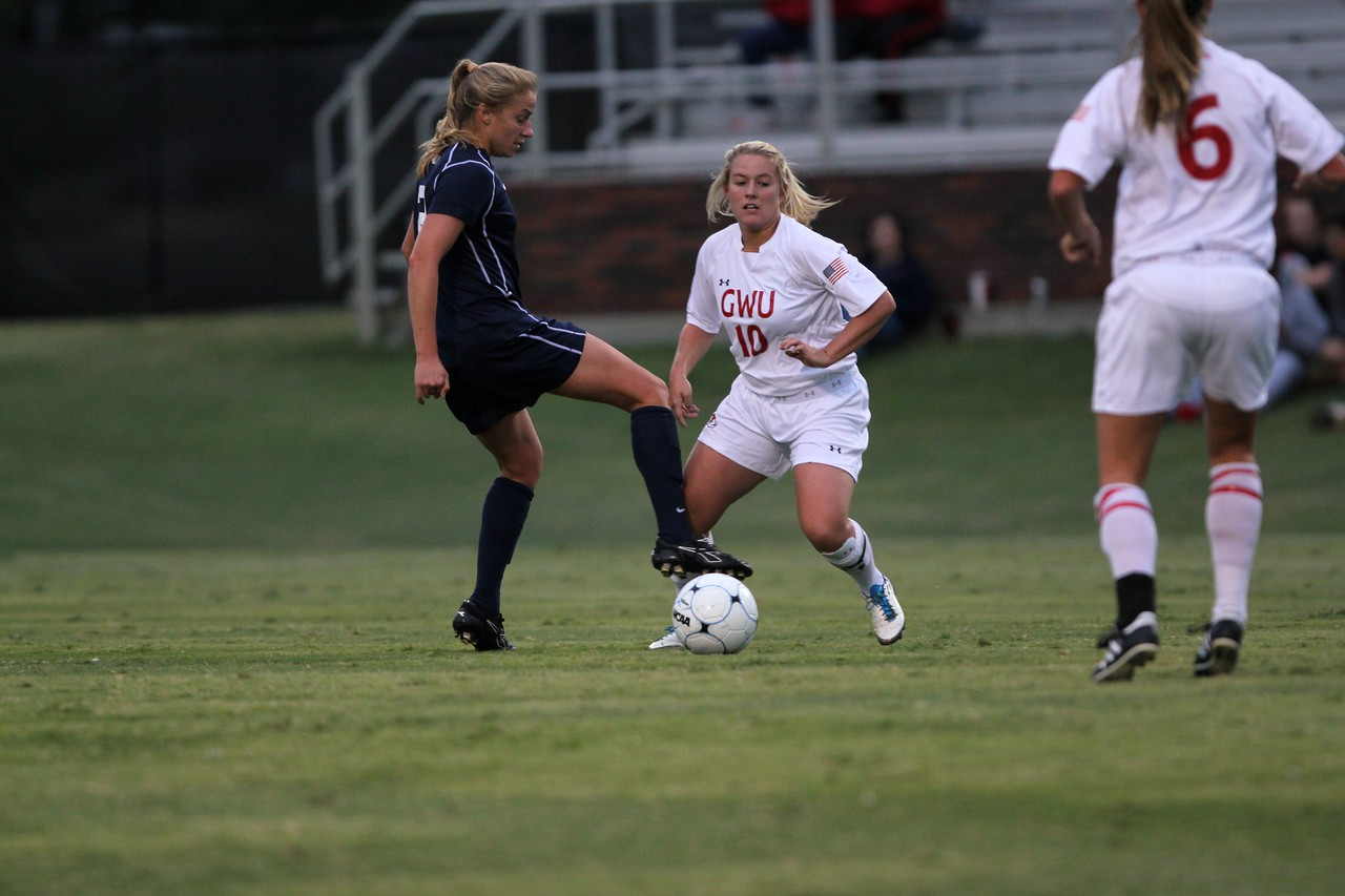 Megan Loftin, 10, tries to steal the ball from George Washington