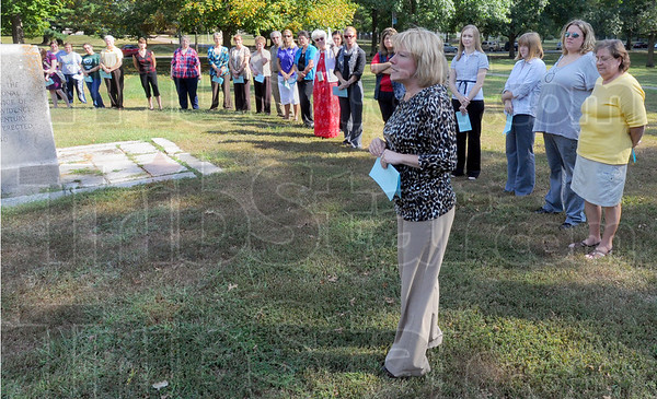 Tribune-Star/Jim Avelis<br /> Faces: Dottie King, president of St. Mary-of-the-Woods College, recalls a story written shortly the terrorist attacks of 10 years ago, how the writer came to realize he saw God at work in the many kind and heroic acts dislayed throughout that day.