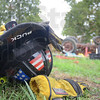 Tribune-Star/Rachel Keyes<br /> Hats off: Local fire departments participate in a farm accident prevention training event led by Prudue's Steve Wettschurack.