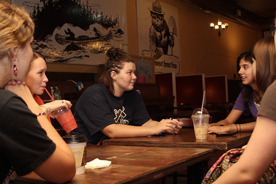 "Ladies from Gardner-Webb meet for ""Ladies Night"" at Broadriver Coffee Company to promote community on campus by sharing their stories and getting to know other women on campus."