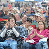Tribune-Star/Jim Avelis<br /> Crowd: Wabash Avenue was filled with blues fans at the start of the Blues at the Crossroads festival Friday evening.