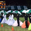 Tribune-Star/Jim Avelis<br /> Royal performance: The West Vigo homecoming was a joyous affair, with the game well in hand for the host Vikings by the time the royal court too the field at halftime.