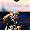 Pass: Northview quarterback #30, Damon Hyatt dumps a pass over the middle during game action Friday night.