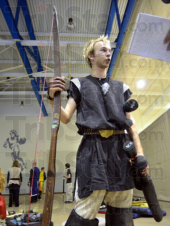 "Player: Zack Robinson plays under the name of ""Zarachiel"" for battle game action at the ISU Arena Friday evening."