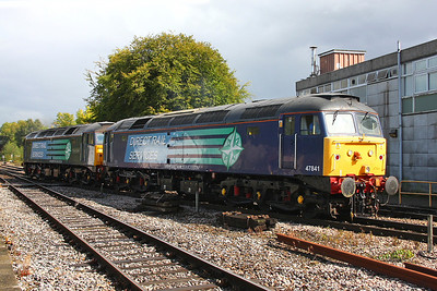 47841 Basingstoke 17/09/11 0Z58 Crewe to Eastleigh with 47802