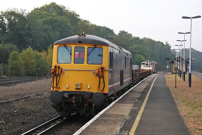 73213 Micheldever 25/09/11 on the rear of 7G16 Queenstown Road to Eastleigh