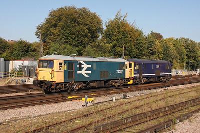73207 Basingstoke 30/09/11 0Y19 Tonbridge to Eastleigh with 73212
