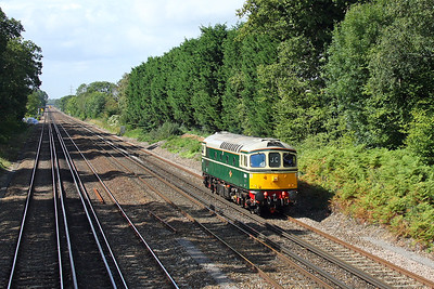 33012 Old Basing 14/09/11 0Z33 Swanage to Barrow Hill via Stewarts Lane to collect 73136