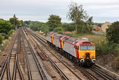 57312 Worting Junction 09/09/11 0O57 Wembley to Eastleigh with 57306 and 57310