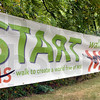 MS sign: Detail photo of MS Start/Finish sign.