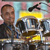 Tribune-Star/Jim Avelis<br /> Music man: Frank Lloyd plays percussion and bass for Governor Davis and the Blues Ambassadors.