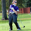 Twist: Greencastle's Katie Hedge uses some body english to attempt to change the path of her putt on number nine green Saturday morning.