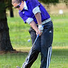 Sectional: Greencastle's Katie Hedge hits a shot during sectional play at Forest Park in Brazil Saturday morning.