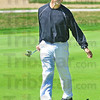 Reaction: Ernie Goble reacts to missing a putt during match action at Hulman Links during the first round of Men's City play.
