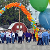 Walk: Participants in Saturday's Autism Walk event gather at the Vigo County Fairgrounds.