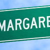 Signage: Detail photo of New Margaret Drive sign.