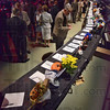 Tribune-Star/Jim Avelis<br /> Quiet: A silent auction was used as a fundraiser for the Terre Haute Chamber of Commerce at its annual dinner Wednesday night.