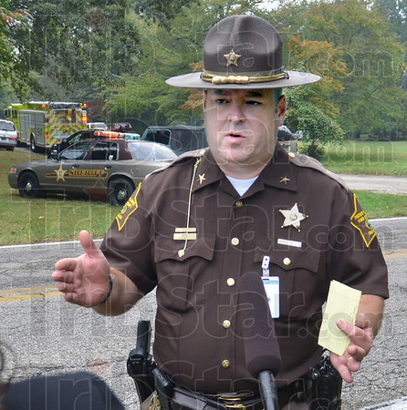 Information: Vigo County Sheriff Greg Ewing explains the circumstances surrounding the death of a man clearing brush on a tractor in the 2500 block of East Springhill Road Wednesday morning.