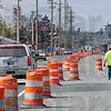 Project: Traffic along Margaret Avenue between US 41 and Seventh Street is moved to the south side of the road while crews install sewer pipes Wednesday afternoon.