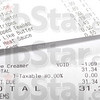Tribune-Star/Jim Avelis<br /> Too much: B.J. Riley's receipt shows he had to return his coffee creamer when he went over budget on his hunger challenge allowance.