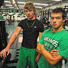 Tribune-Star/Jim Avelis<br /> In training: West Vigo High School juniors Danny and Jacob Creasey.