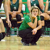 So close: West Vigo coach Cami Readinger reacts to the final point of the first game against South Monday night at the West Vigo gym. South won 25-22.