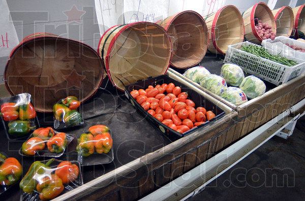Market fresh: Veggies on display at the Farmers Market.