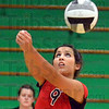 Free ball: South's #9, Marissa Coutinho hits the ball during game action Monday night.