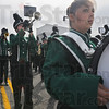 Tribune-Star/Jim Avelis<br /> Strike it up: The West Vigo High School marching band provided music for the Labor Day parade Monday.