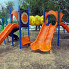 Tribune-Star/Jim Avelis<br /> Reopened: The George and Ida Smith Park in Prarieton has been redone, with new playground equipment and signage out front