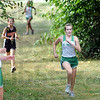 Finish: St. Patrick's runner Maddie Plant finishes strong during Tuesday's cross country meet with Sarah Scott middle school.