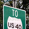 This way: A sign at 11th and Ohio Streets advises motorists to go to Wabash Avenue to be on US 40.