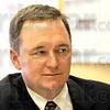 INDOT: Commissioner Michael Cline talks with Tribune-Star reporter Howard Grenninger.