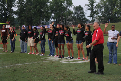 The Women's Basketball team received championship rings.