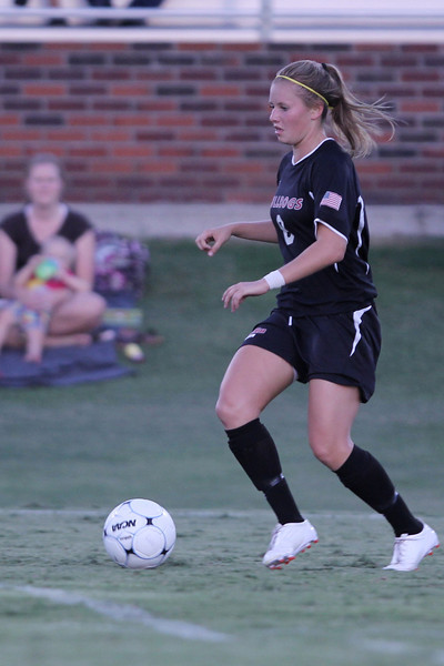 Megan Curan (8) controls the ball.