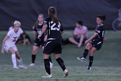 Katie Soles (23) receives a pass from Taylor Napoli (3).
