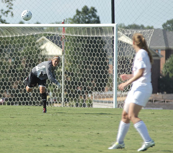 Erika Lenns (GK) throws the ball up the field.