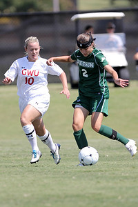 Megan Loftin (10) looks for an opportunity to steal the ball from an opposing player.