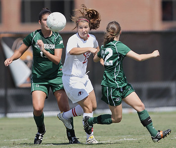 Katie Soles (23) goes after a ball.