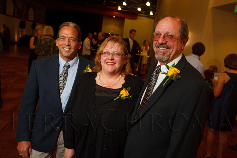 (Denver, Colorado, Sept. 10, 2011)<br /> Dr. Andy Tucker, Becky Lewin, and Ed DeCicco.  Zarlengo Foundation event at the Ellie Caulkins Opera House in Denver, Colorado, on Saturday, Sept. 10, 2011.<br /> STEVE PETERSON
