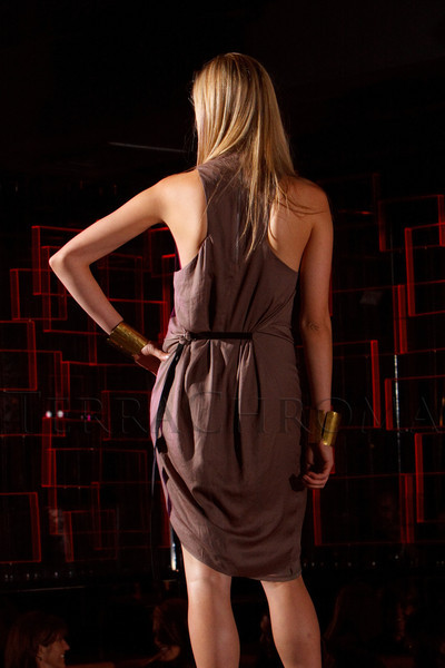 """(Denver, Colorado, Sept. 17, 2011)<br /> Sonja in her first look, a Helmut Lang dress.  The Eighth Annual Volunteers of America Fashion Show, """"The Sweet Life,"""" at Suite Two Hundred in Denver, Colorado, on Saturday, Sept. 17, 2011.<br /> STEVE PETERSON"""